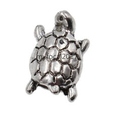 Silver Tortoise Dreadlock Beads Alloy Hair Jewelry Decor DIY Accessories 10x New