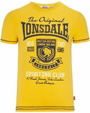 Lonsdale London ORPINGTON Stretch T-Shirt Gelb Yellow
