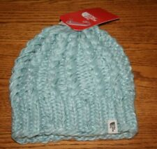 The North Face Women's Chunky Knit Beanie Hat Windmill Blue RARE NWT
