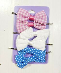 New Claire's Women's Girls Kids Hair Accessories Hair Clips Bobby-Pin Bow