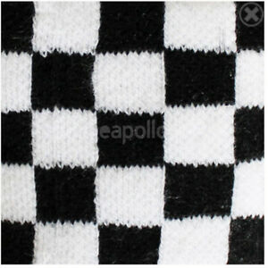 Unisex Black and White Check Checkered Wristband Sweatband - Brand New