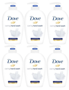 Dove Caring Hand Wash For Moisturised and Protected Hands - 250ml 6 Pack