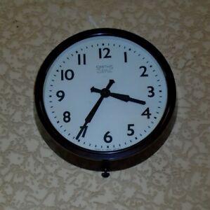 VINTAGE 1940s SMITHS BAKELITE INDUSTRIAL FACTORY SCHOOL WALL CLOCK 8 DAY WORKING