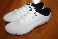 Brand New In Box PUMA Drift Cat 5 Leather Men's Shoes WHITE or BLACK