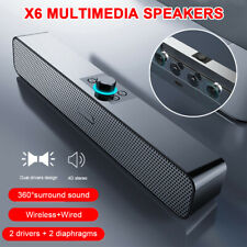 Wireless Bluetooth Speaker Sound Bar for Phone Computer Desktop Supports AUX/BT