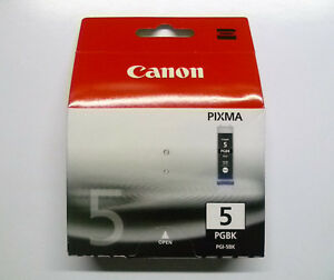 Original Canon PGI-5BK Black Pixma iP3300 iP3500 iP4200 iP4300 Packaging