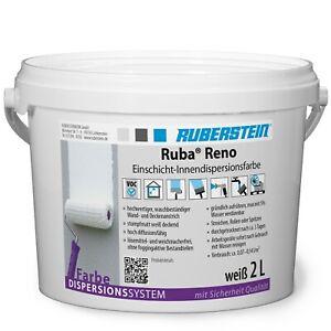 Ruberstein® Dispersionsfarbe innen Ruba Reno 2 L weiß
