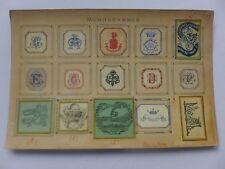 Ex-libris ancien  ,Monogrammes ,Armoiries ,collés sur carton  LIBRAIRES.........
