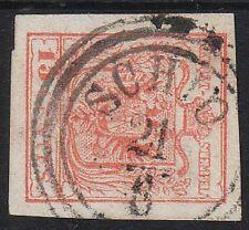 1850 LOMBARDEI-VENETIEN 15C, MP, Type III, Dickes Papier! SCHIO Stempel.