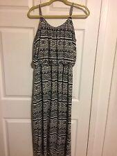 Magic Brand Black White Tribal Aztec LONG DRESS Lined Size 1x
