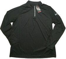 Under Armour Men's 2XL Quarter Zip Pullover Shirt Loose Fit Long Sleeve Black