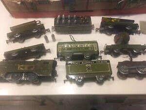 Vintage Marx Army Military Supply Train Set,