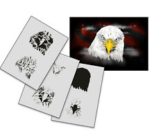Step by Step Airbrush Stencil AS-198 M ~ Template ~ UMR-Design