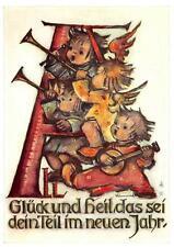 """vintage unused greeting cards  ARS SACRA B.I.Hummel """"merry christmas """"3767"""""""
