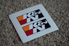K&N Air Filter K And N Race Rally Motorsport Race Car Decal Stickers Badge 50mm