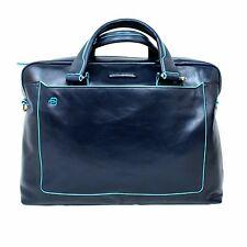 FOLDER BAG PIQUADRO BLUE SQUARE offer TWO HANDLES LEATHER CA3335B2 / BLU2 Blue