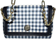 Tory Burch KERRINGTON GINGHAM CHAIN STRAP CROSSBODY Bag Purse Sattchel