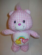 "CARE BEARS ""BEST FRIEND BEAR"" 10 1/2"" PINK GINGHAM PLUSH ""2006"" SUPER CUDDLY!"