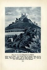 Burg Hanstein bei Witzenhausen im Eichsfeld Bild+Text von 1925