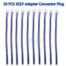10 PCS 3S1P Balance Charger Wire 4 Pin JST XH Adapter Connector Plug for IMAX B6