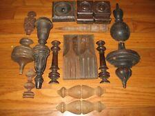 Antique & Vintage Lot of 16 Wood Carved Furniture Pediments Salvage