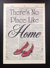 Wizard Of Oz No Place Like Home Gift Idea A4 Antique Dictionary Page Art #39