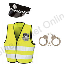 4-12 CHILDRENS KIDS BOYS POLICEMAN POLICE COP FANCY DRESS COSTUME OUTFIT