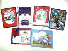Christmas Cards, Handcrafted, Large Variety, 5 1/2 x 4 1/4, w/envelopes