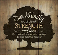 Our Family Circle of Strength Rustic Tree 10x10 Wood Pallet Design Wall Plaque