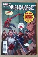 SPIDER VERSE #1 ROCKET AND GROOT VARIANT 1ST PRINT MARVEL COMICS(2015) SPIDERMAN