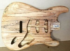SPALTED MAPLE ALDER WOOD STRAT STYLE ELECTRIC GUITAR BODY Custom 12258