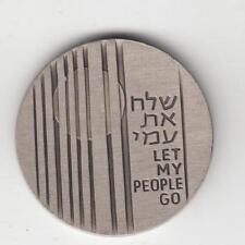 "1972 IGCMC Season's Greetings Token ""Let My People Go"" 30mm CU-NI"