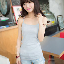 1pc Grey Girls Sexy Sleeveless Summer Vest Tank Cami T Shirt Bottoming Camisole