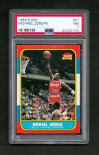 1986 Fleer Basketball Michael Jordan ROOKIE #57 PSA 7 NEAR MINT CHICAGO BULLS