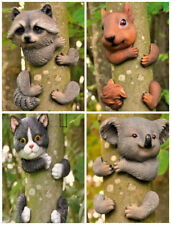 Novelty Resin Garden Animals Tree Peeker Garden Ornaments Fence Shed Decoration