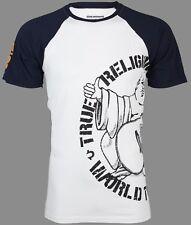 True Religion Men S/S T-Shirt PART BUDDHA RAGLAN Designer WHITE Jeans S-3XL $79