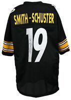 JuJu Smith-Schuster Signed Custom Black Football Pro-Style Jersey JSA