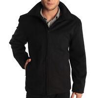 "Alpine Swiss Grant Mens 28"" Open Bottom Jacket Wool Blend JD Bomber Coat Zipered"