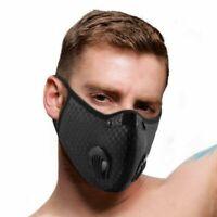 Motocross Maske Filter Mundschutz Atemmaske Doppelte Atemventile NEU