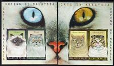 Malaysia 1999 Cats in Malaysia 2 M/S MNH