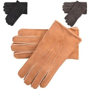 Mens Premium Sheepskin Gloves Luxury Classic Style Supreme Warmth & Comfort