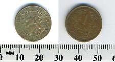 Netherlands Antilles 1954 - 1 Cent bronze Coin - Rampant lion left - #1