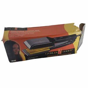 "NEW Gold N Hot 2"" Hair Crimper Model GH9276 Hi Lo Black Gold OPEN BOX"