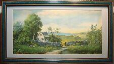 New England Pastoral Farm Scene - 1918 Muller, Luchsinger - Framed