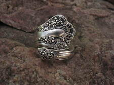 1904 Vintage Grape Spoon Ring Size 11.25 R8  Western Skies Silver