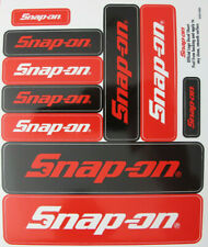 Genuine Snap-on Tools Logo Decal Sticker Sheet with 10 Various Size Stickers