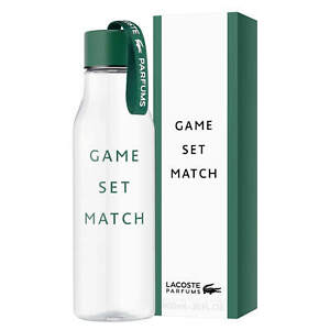 LACOSTE Game Set Match Drinks 600ml Water Bottle. New & Boxed