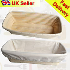 UK  2x 30cm Round R Banneton Brotform Dough Bread Proofing Proving Rattan Basket