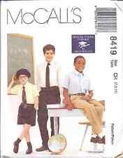 8419 Uncut McCalls Sewing Pattern Boys French Toast School Uniform Pants Shorts