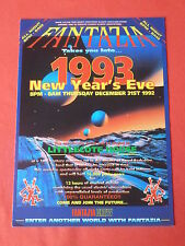 FANTAZIA RAVE FLYER / FLYERS NEW YEARS EVE 1992 MINT